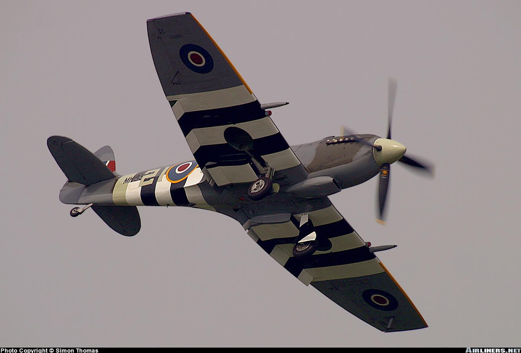 Airworthy Spitfire warbird MkIXe RCAF 443Sqn 2IV MK356 14