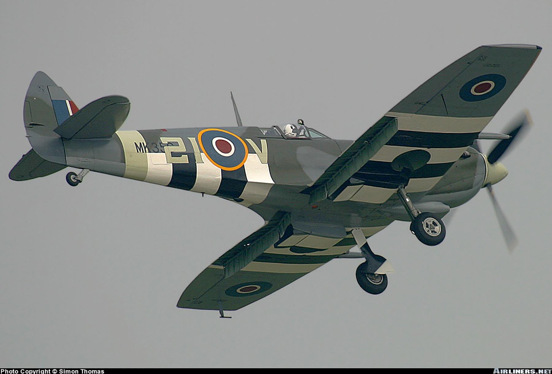 Airworthy Spitfire warbird MkIXe RCAF 443Sqn 2IV MK356 15