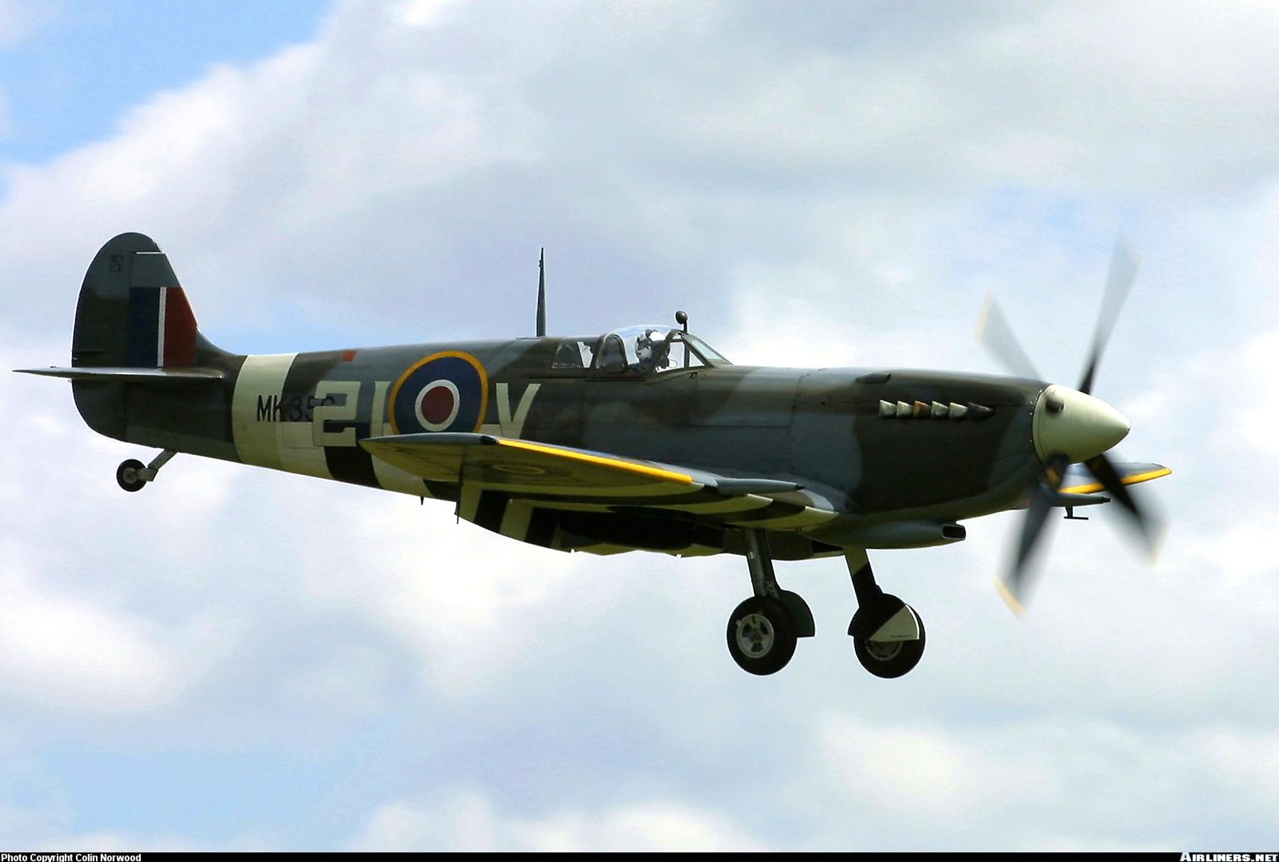 Airworthy Spitfire warbird MkIXe RCAF 443Sqn 2IV MK356 16