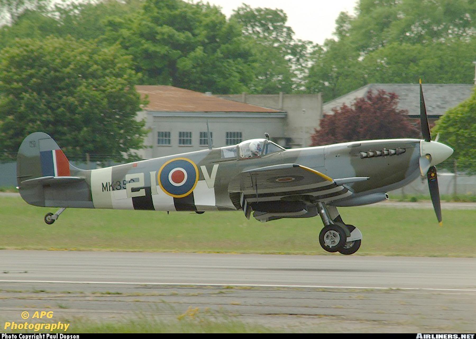 Airworthy Spitfire warbird MkIXe RCAF 443Sqn 2IV MK356 17