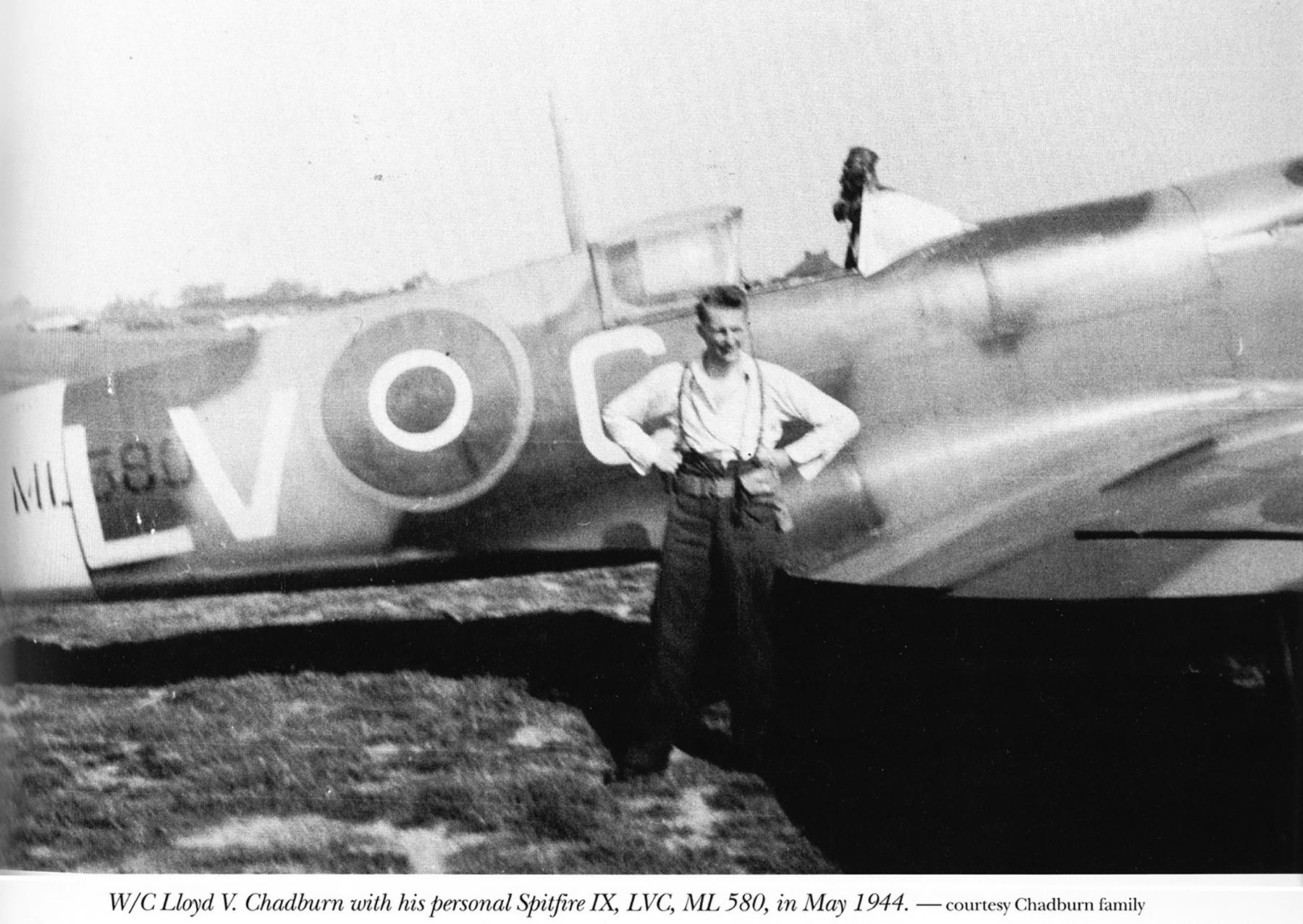 Spitfire LFIX RCAF 403Sqn LVC Lloyd V Chadburn ML380 May 1944 01