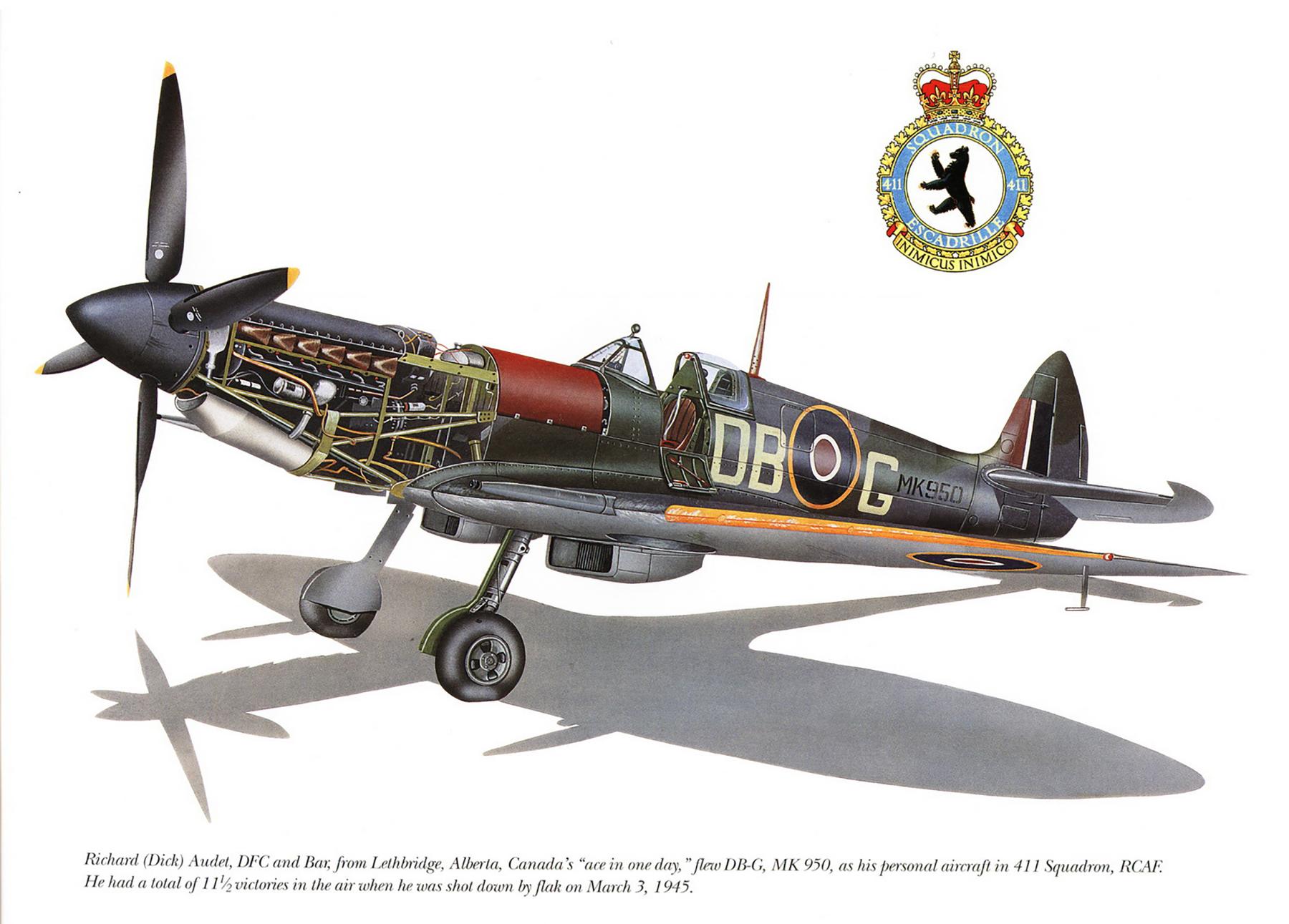 Spitfire LFIX RCAF 411Sqn DBG Richard Audet MK950 Dec 1944 0A