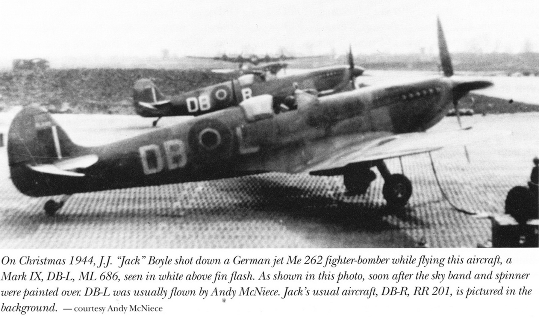 Spitfire LFIX RCAF 411Sqn DBL John J Boyle ML686 Dec 1944 01