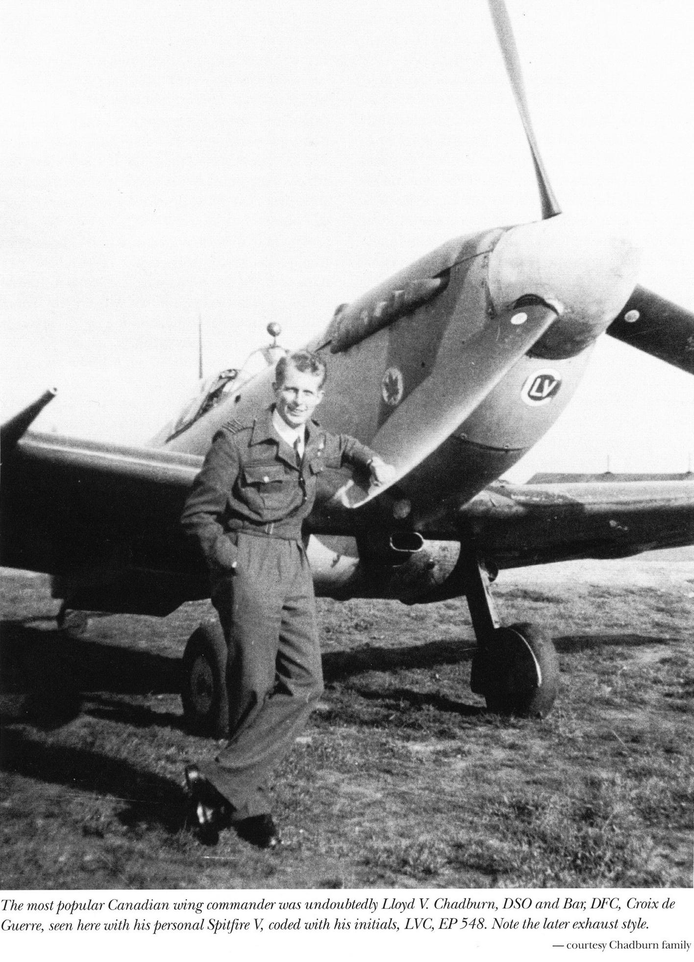 Spitfire MkVb RCAF 403Sqn LVC Lloyd V Chadburn EP548 01