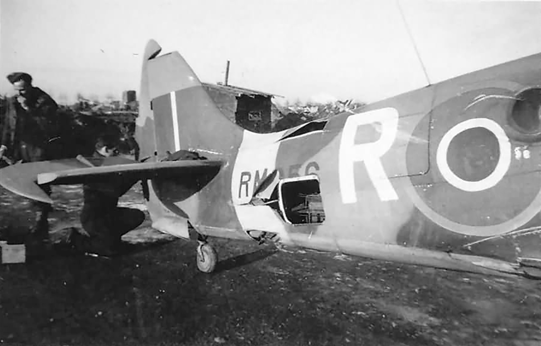Spitfire XIV RAF 430Sqn G9R RM856 attack on Eindhoven airfield web 01