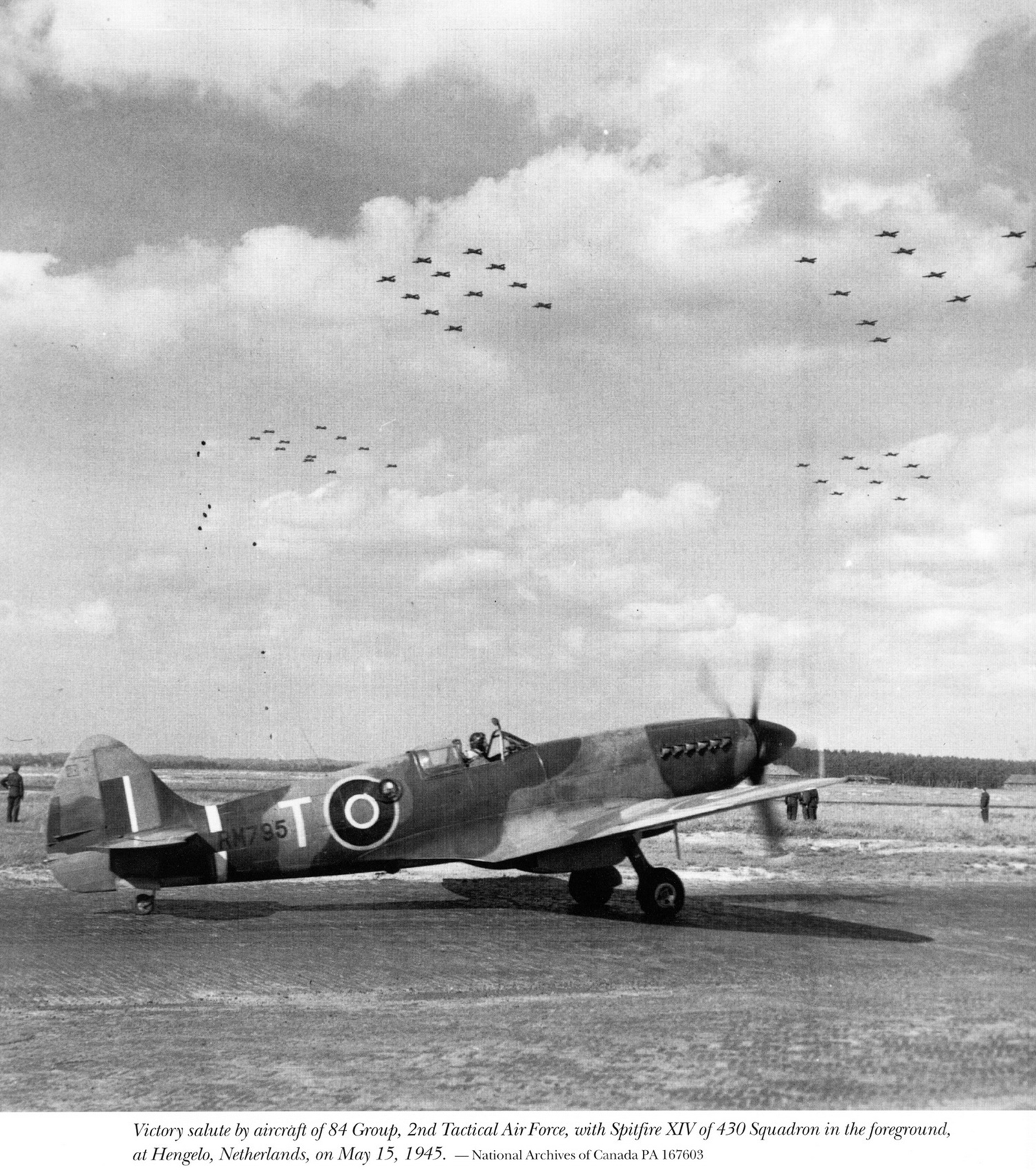 Spitfire XIV RCAF 430Sqn T RM795 Heesch Netherlands 15th May 1945 01