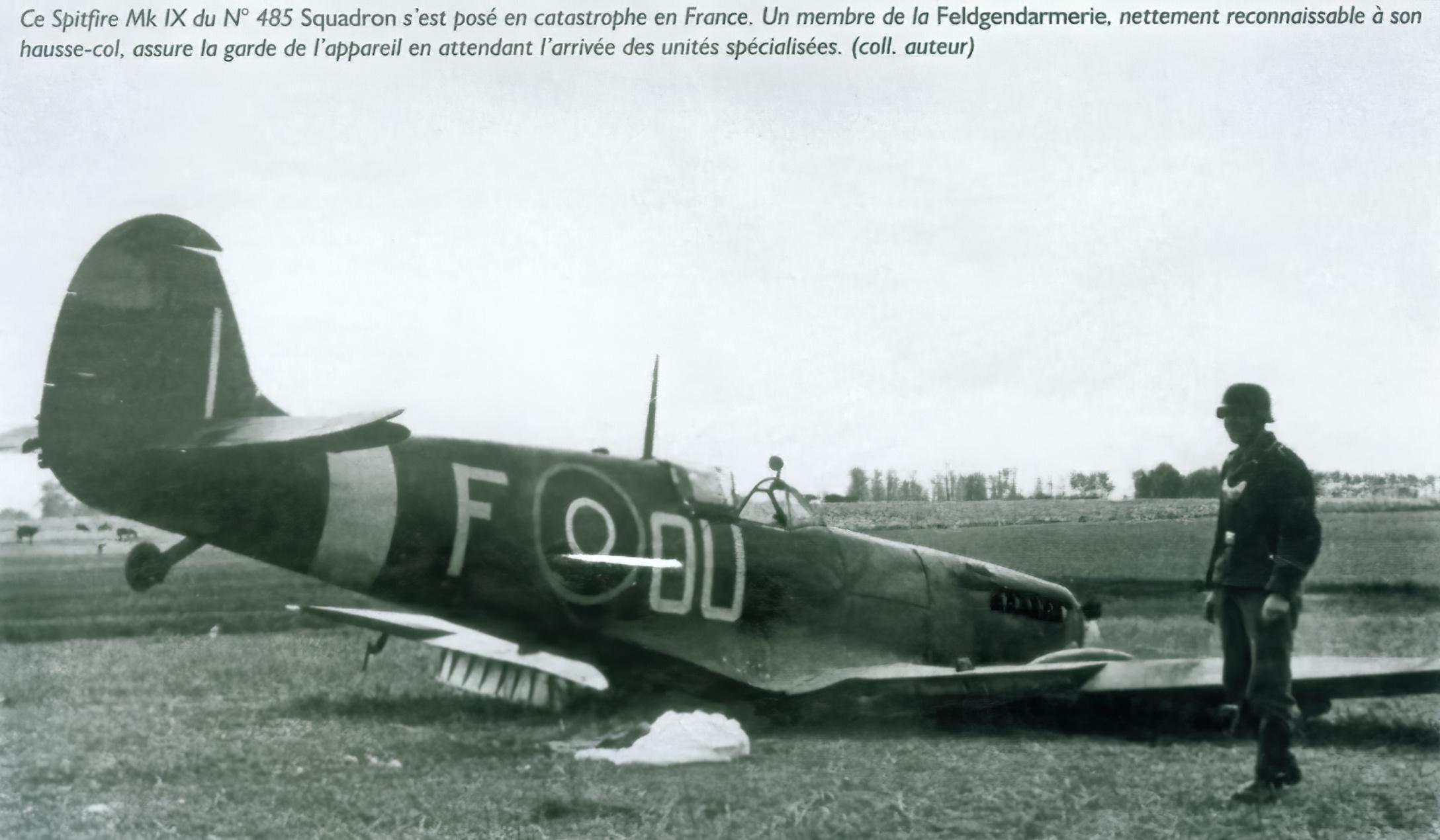 Spitfire MkIX RNZAF 485Sqn OUF force landed France 01