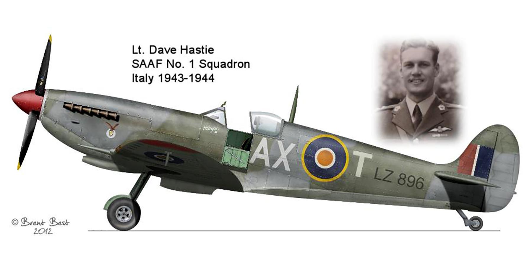 Spitfire MkIX SAAF 1Sqn AXT LZ896 Italy 1943 0A