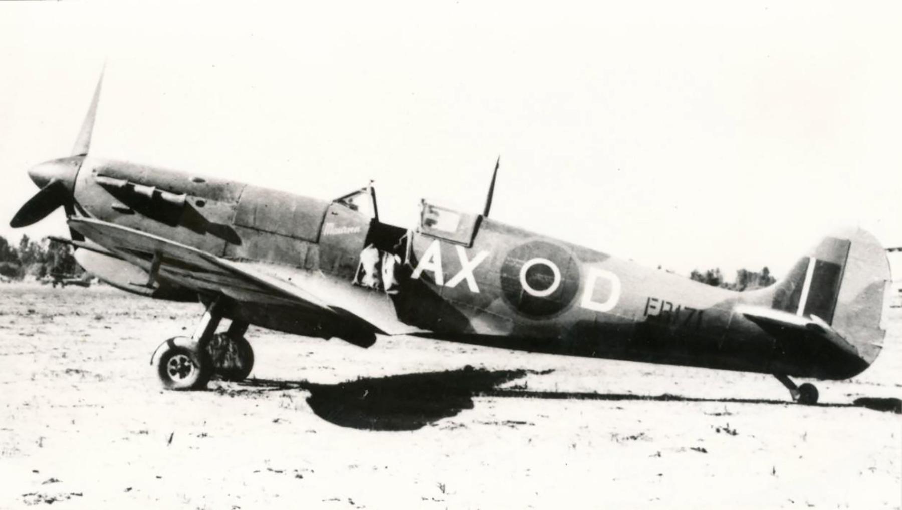 Spitfire MkVbTrop SAAF 1Sqn AXD ER171 Goubrine Tunisia 1943 02