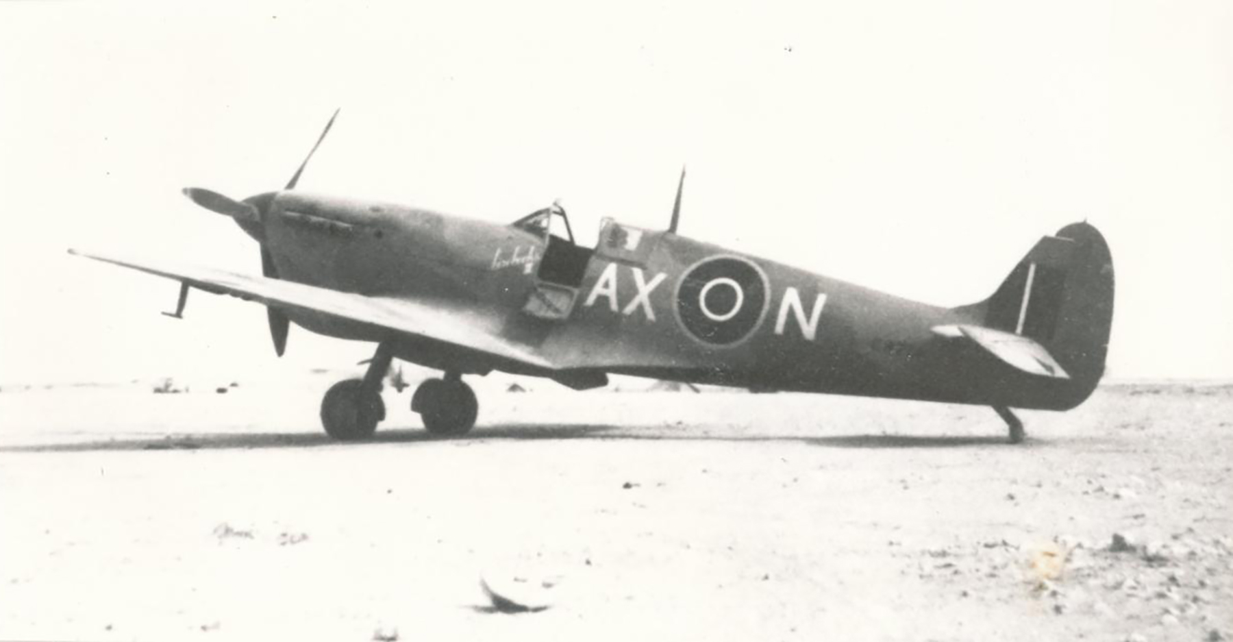 Spitfire MkVbTrop SAAF 1Sqn AXN ER874 Goubrine Tunisia 1943 01