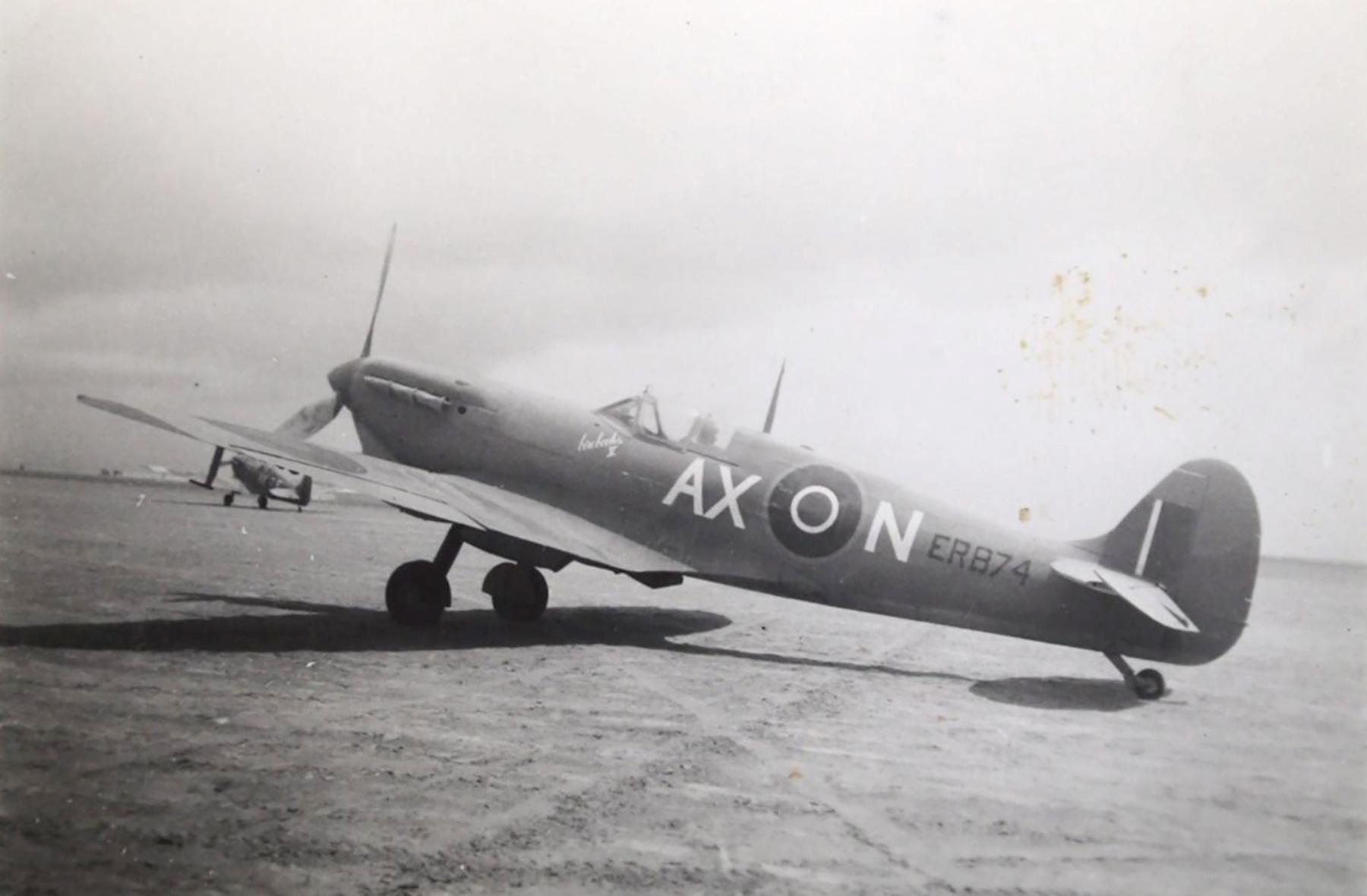 Spitfire MkVbTrop SAAF 1Sqn AXN ER874 Goubrine Tunisia 1943 02