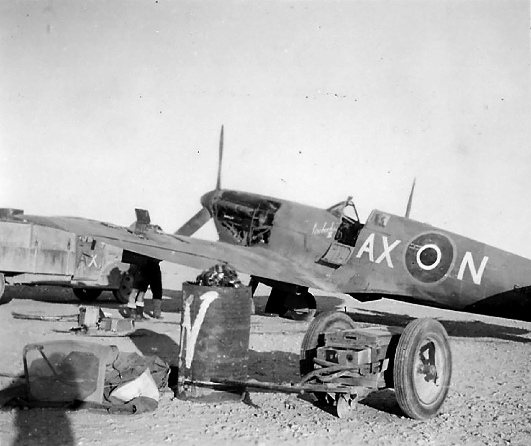 Spitfire MkVbTrop SAAF 1Sqn AXN ER874 Goubrine Tunisia 1943 05