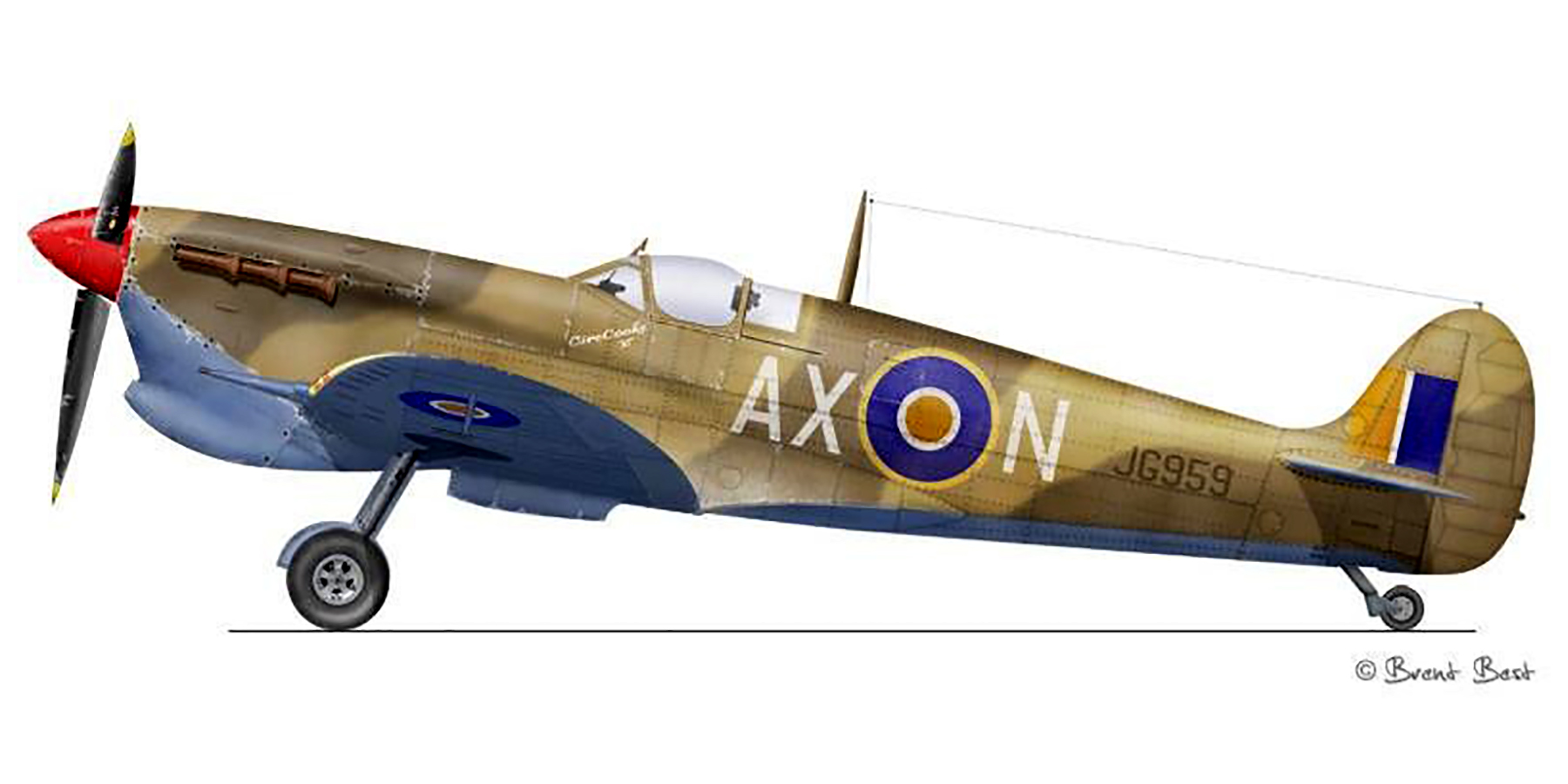 Spitfire MkVcTrop SAAF 1Sqn AXN JG959 Tunisia 1943 0A