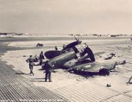 Asisbiz Spitfire MkIX SAAF 1Sqn AX crash site 01