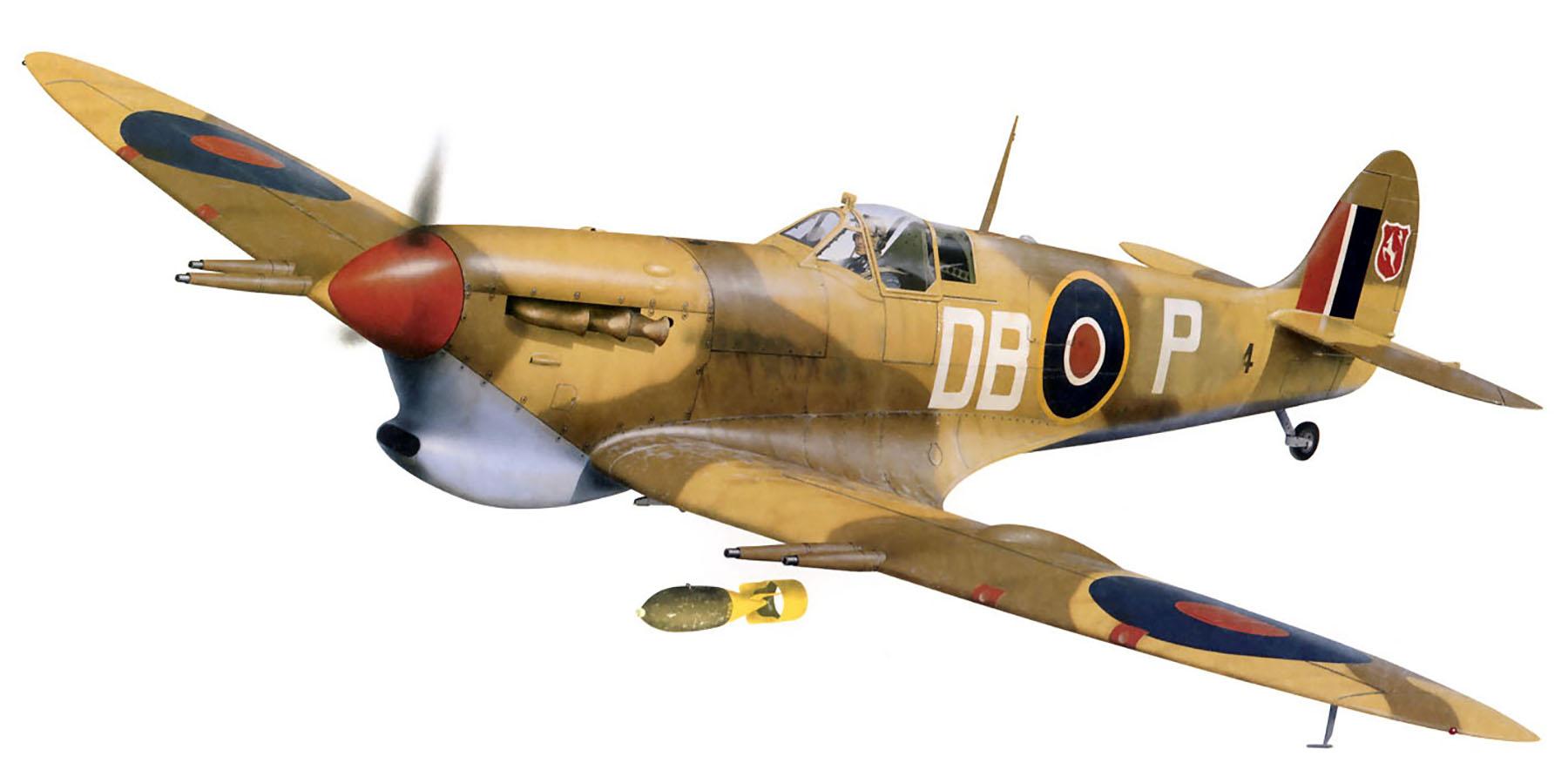 Spitfire MkVcTrop SAAF 2Sqn DBP Sicily Italy 1943 0A