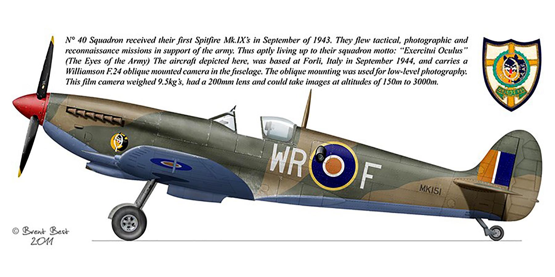 Spitfire LFIXc SAAF 40Sqn MK151 Italy 1943 0A