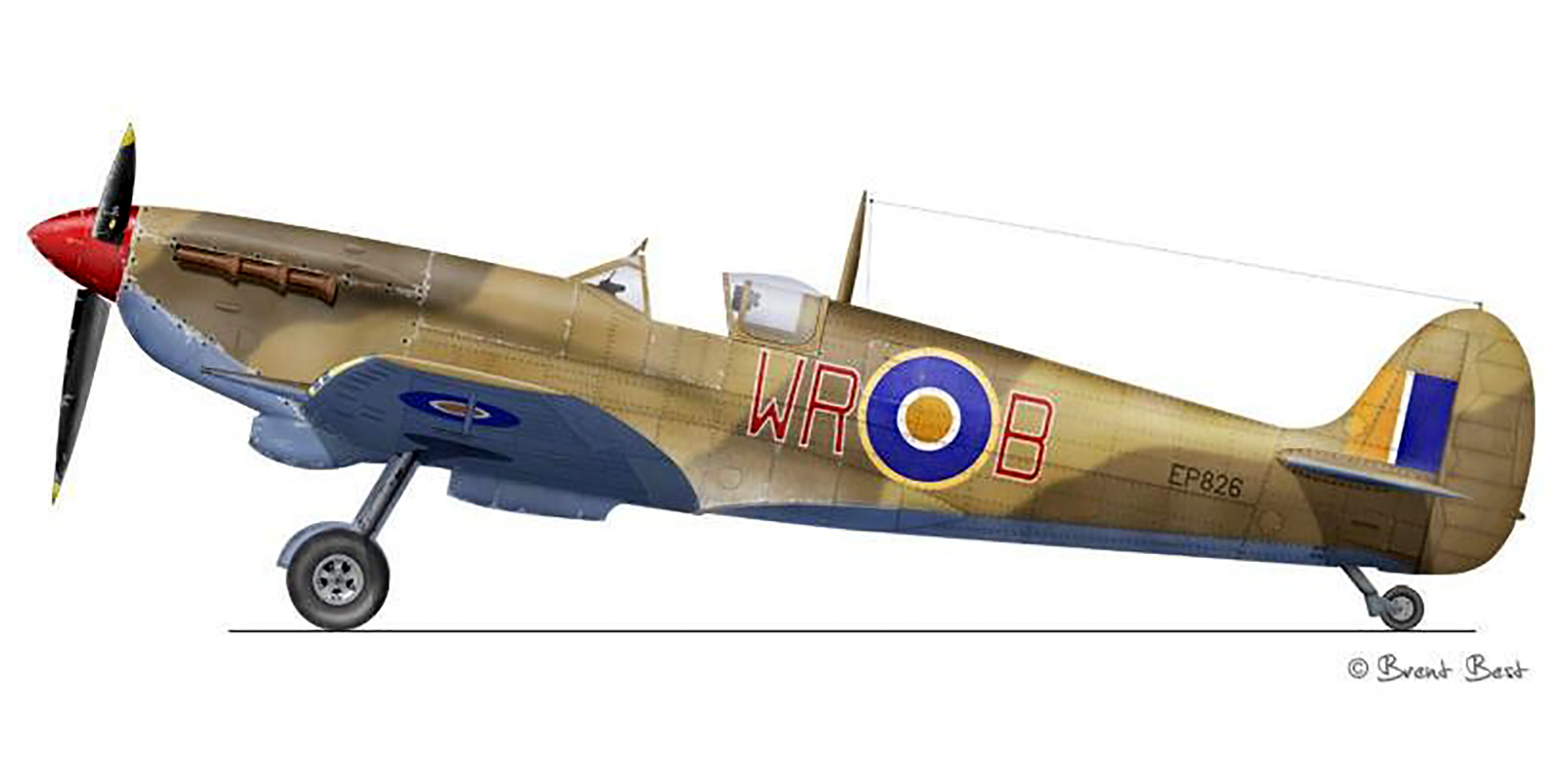 Spitfire LFVb SAAF 40Sqn WRB Aboukir filter F24 camera EP826 Sicily 1943 0A