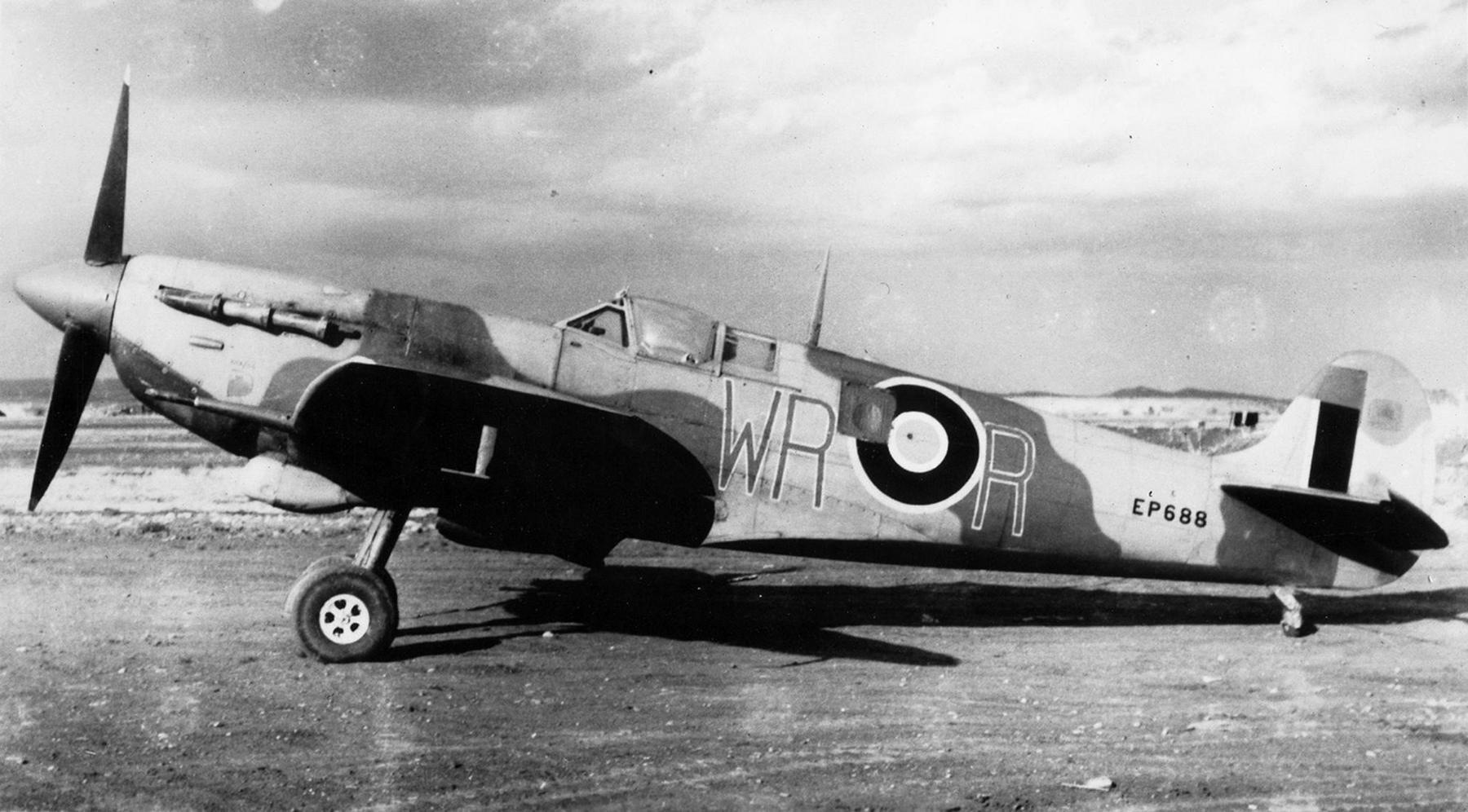 Spitfire LFVb SAAF 40Sqn WRR Aboukir filter F24 camera EP688 Sicily 1943 066