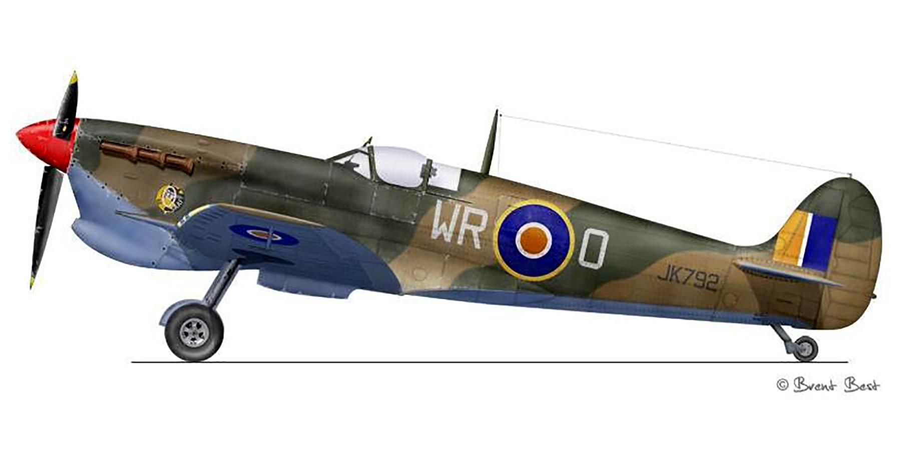 Spitfire MkVcTrop SAAF 40Sqn WRO JK792 Italy 1943 0A