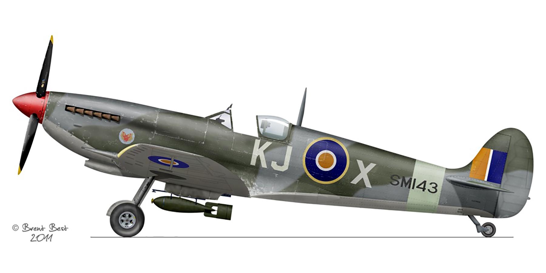 Spitfire LFIX SAAF 4Sqn KJX SM143 Italy 1945 0A