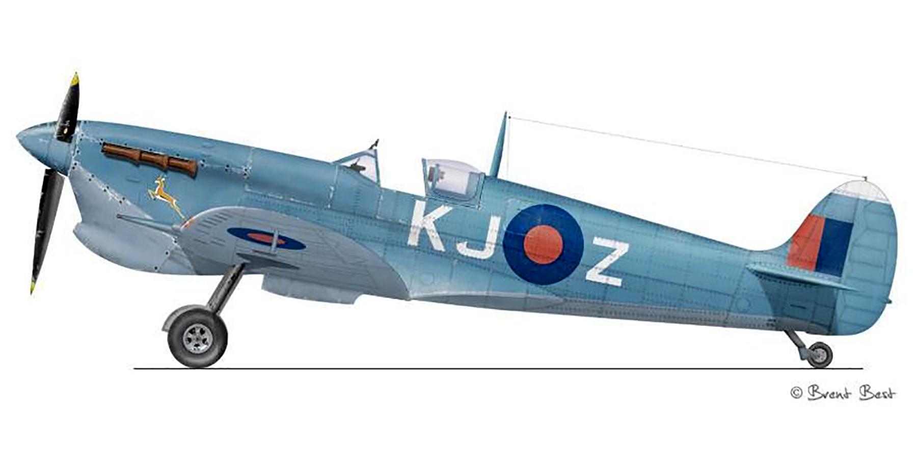 Spitfire MkVcTrop SAAF 4Sqn KJZ Sicily Italy 1943 0B