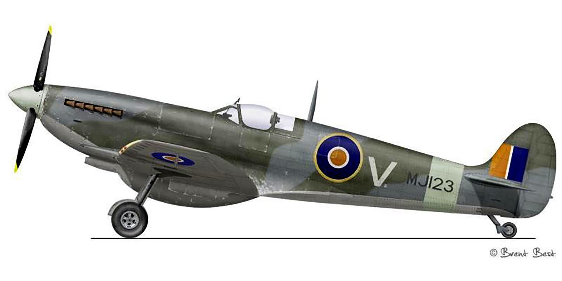 Spitfire LFIX SAAF 7Sqn V MJ123 Trigno Italy 1944 0A