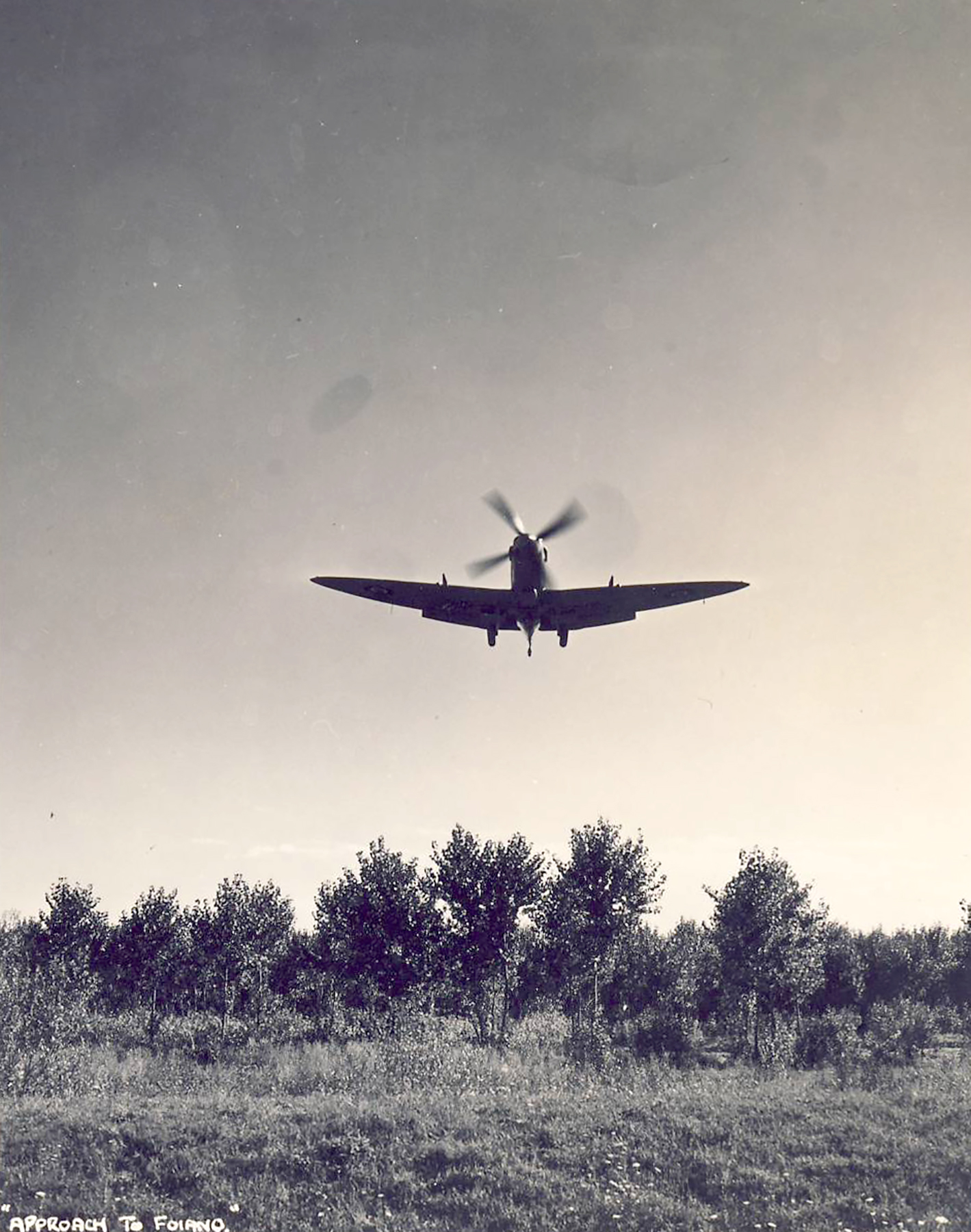 Spitfire MkVII c wing landing at a base in Italy 02