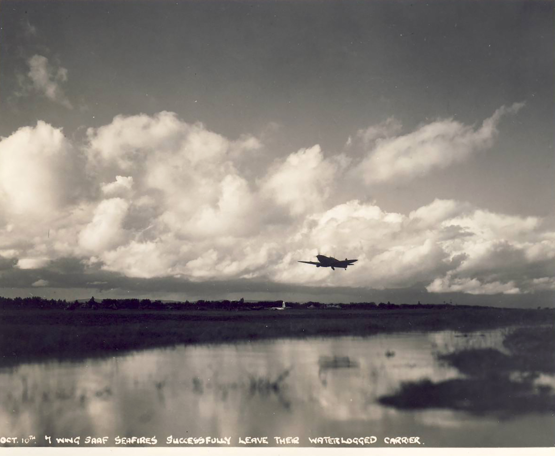 Spitfire MkVII c wing taking off at a base in Italy 02