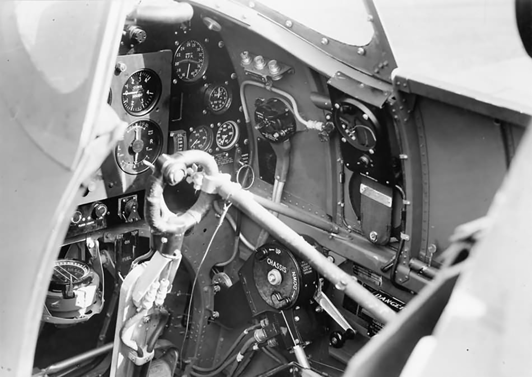 Factory fresh Spitfire Mk IIa cockpit England 1941 web 02