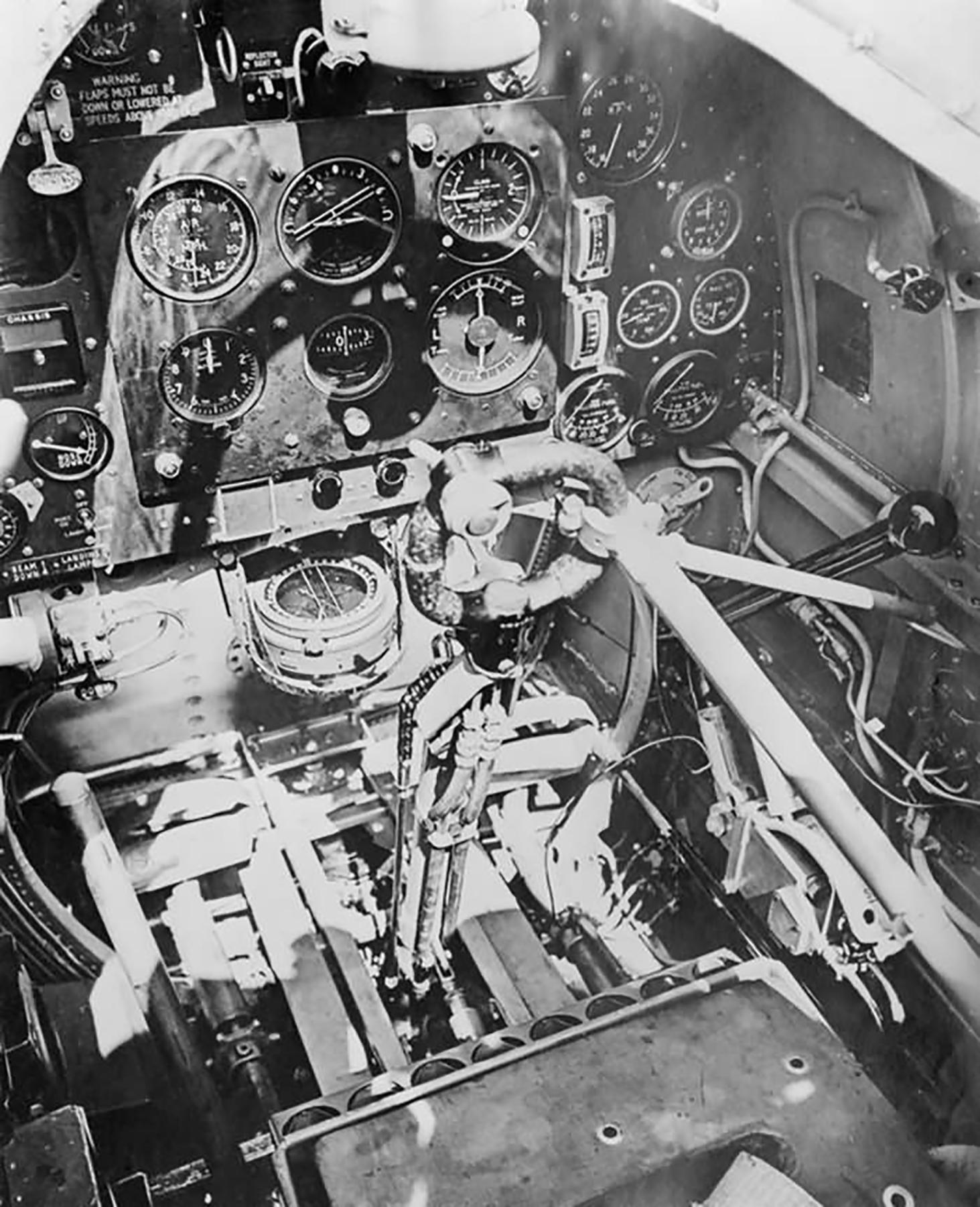 Factory fresh Spitfire Mk IIa cockpit England 1941 web 03