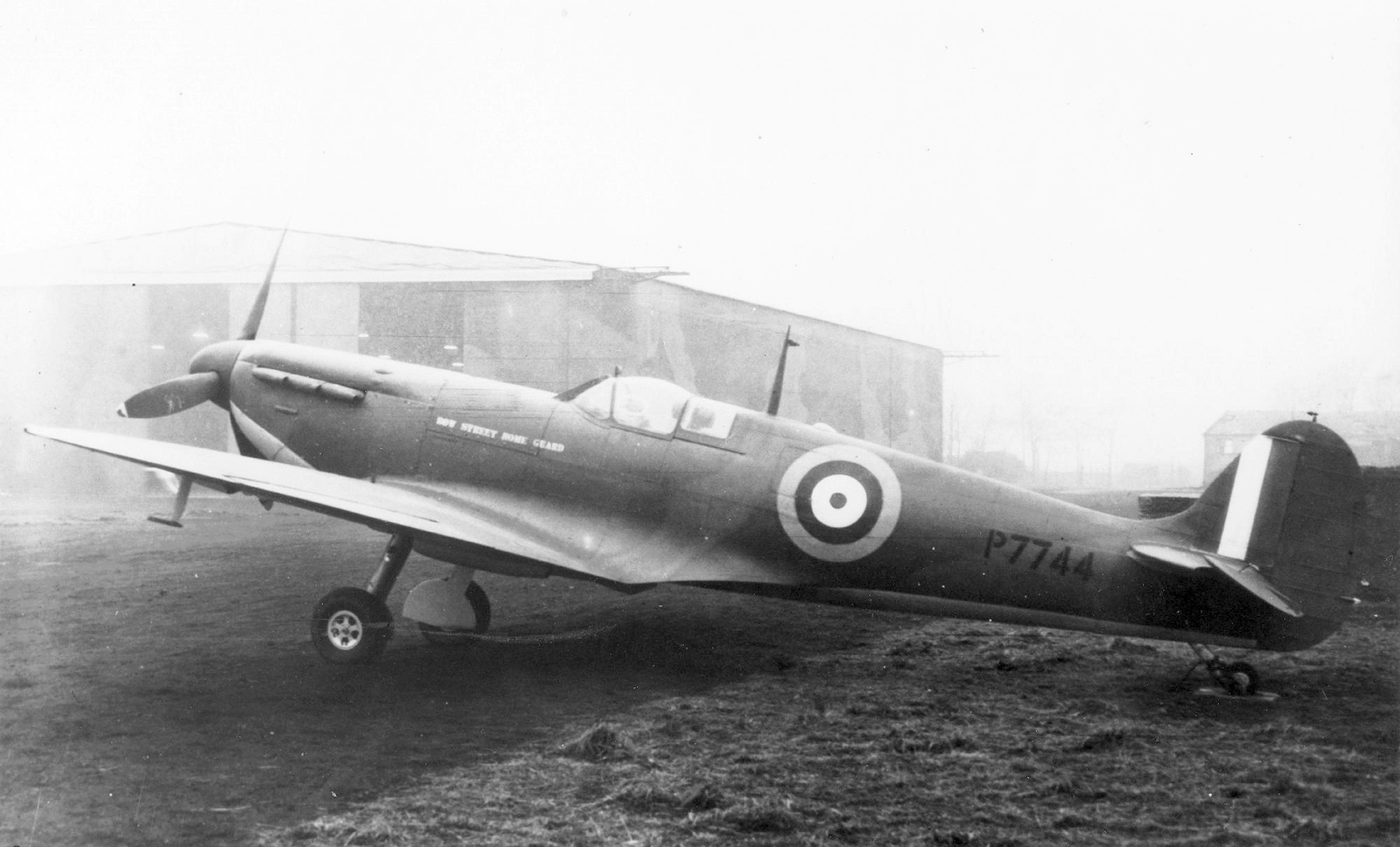 Factory fresh Spitfire MkIIa RAF P7744 first flew with 66Sqn till Mar 1941 then numerous Sqns till 1945 01