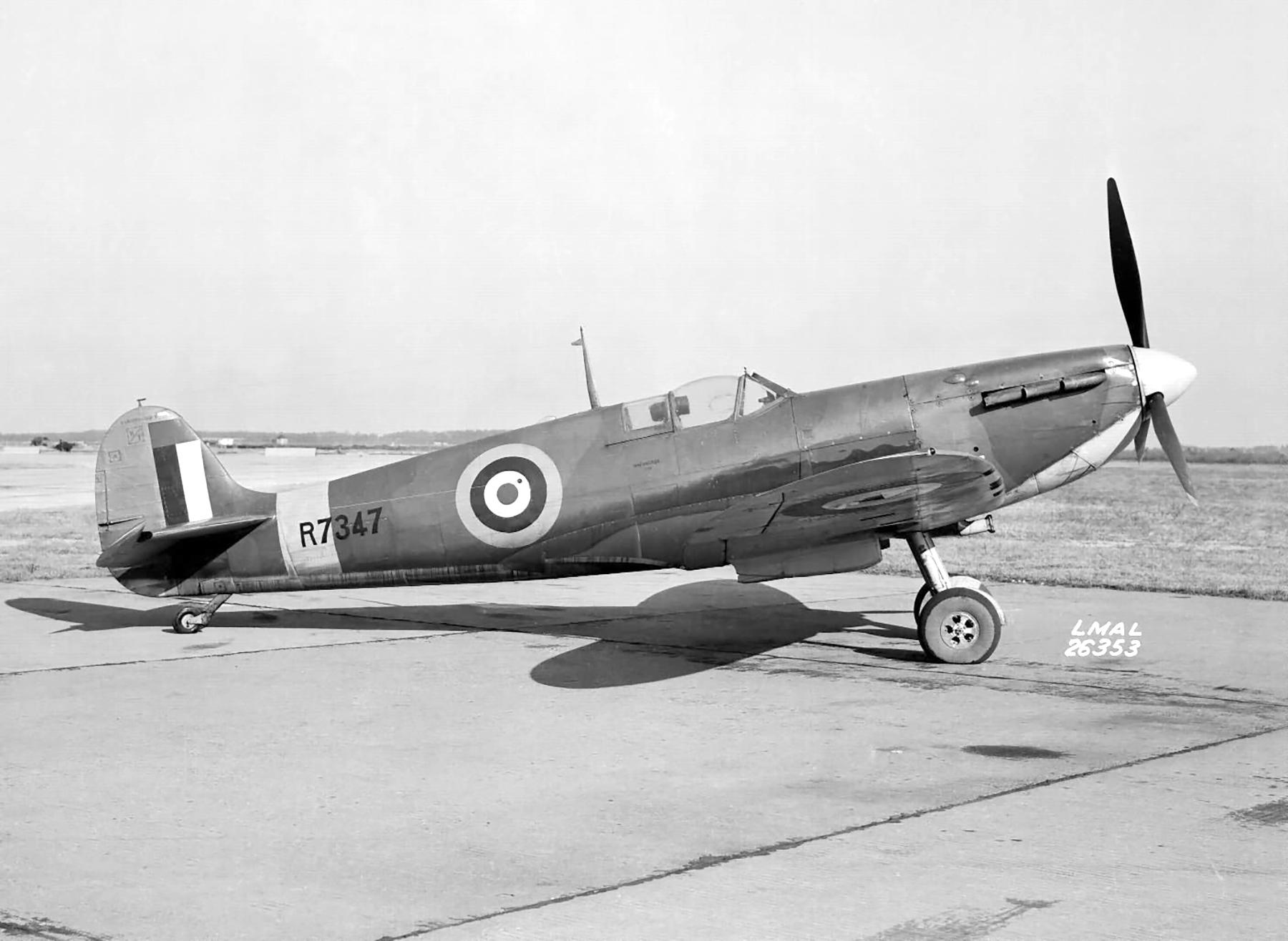 Factory fresh Spitfire MkV R7347 sent for evaluation Langley USA web 01