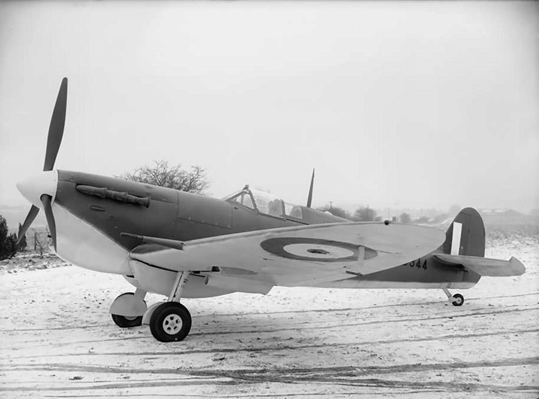 Factory fresh Spitfire MkVbTrop AB344 on the ground 01