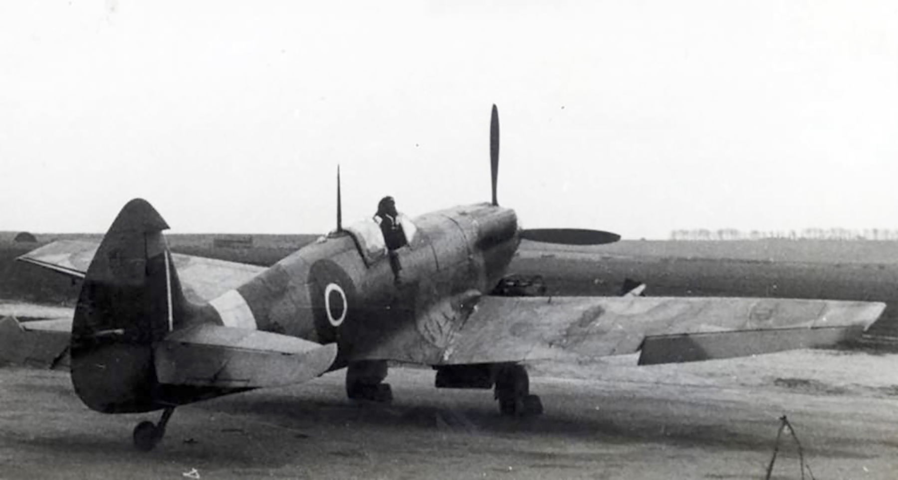Factory fresh Spitfire MkXII RAF EN238 on the ground web 01