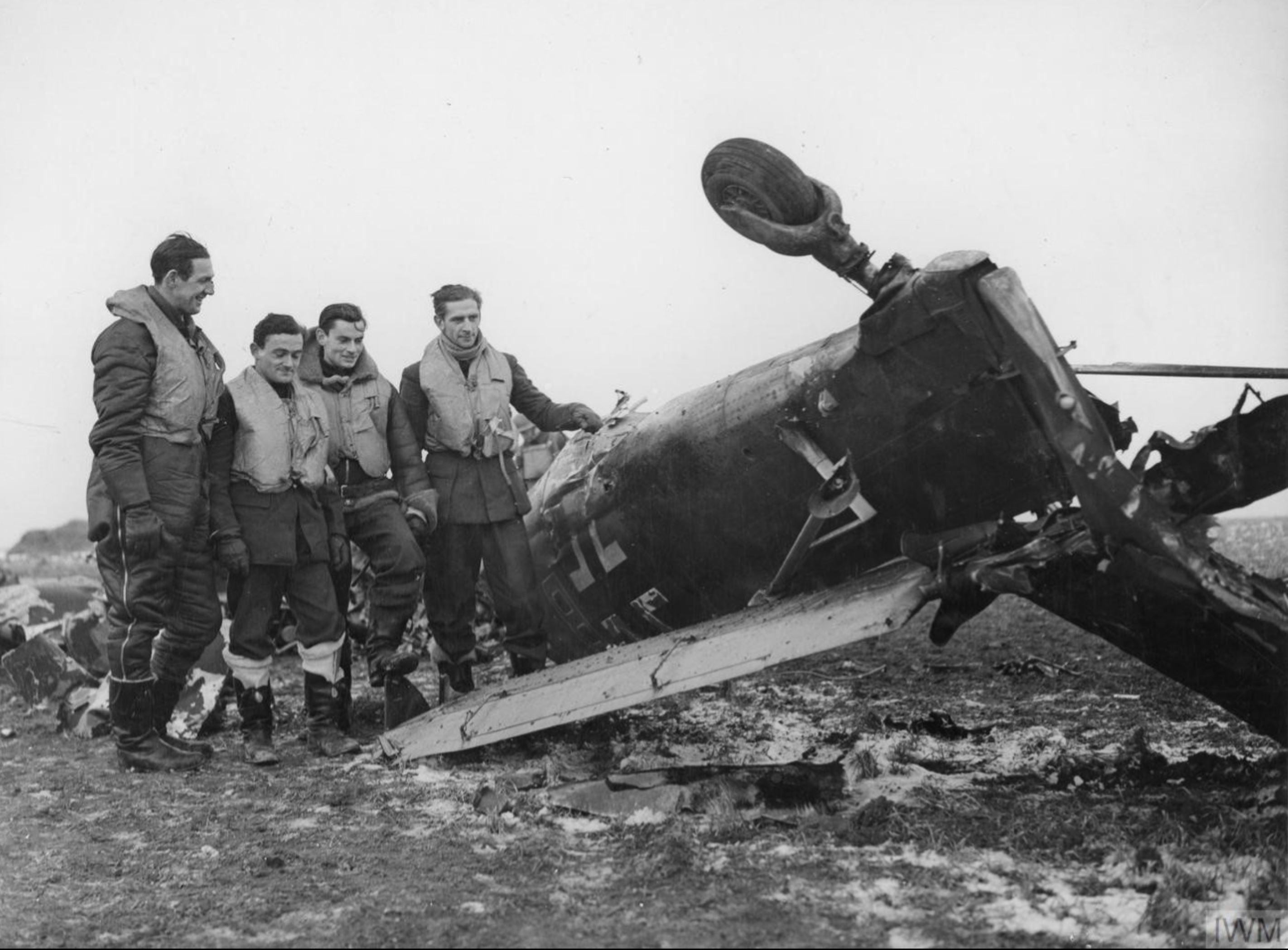 Junkers Ju 87B Stuka shot down by Spitfires near Manston 5th Feb 1941 IWM CH2064