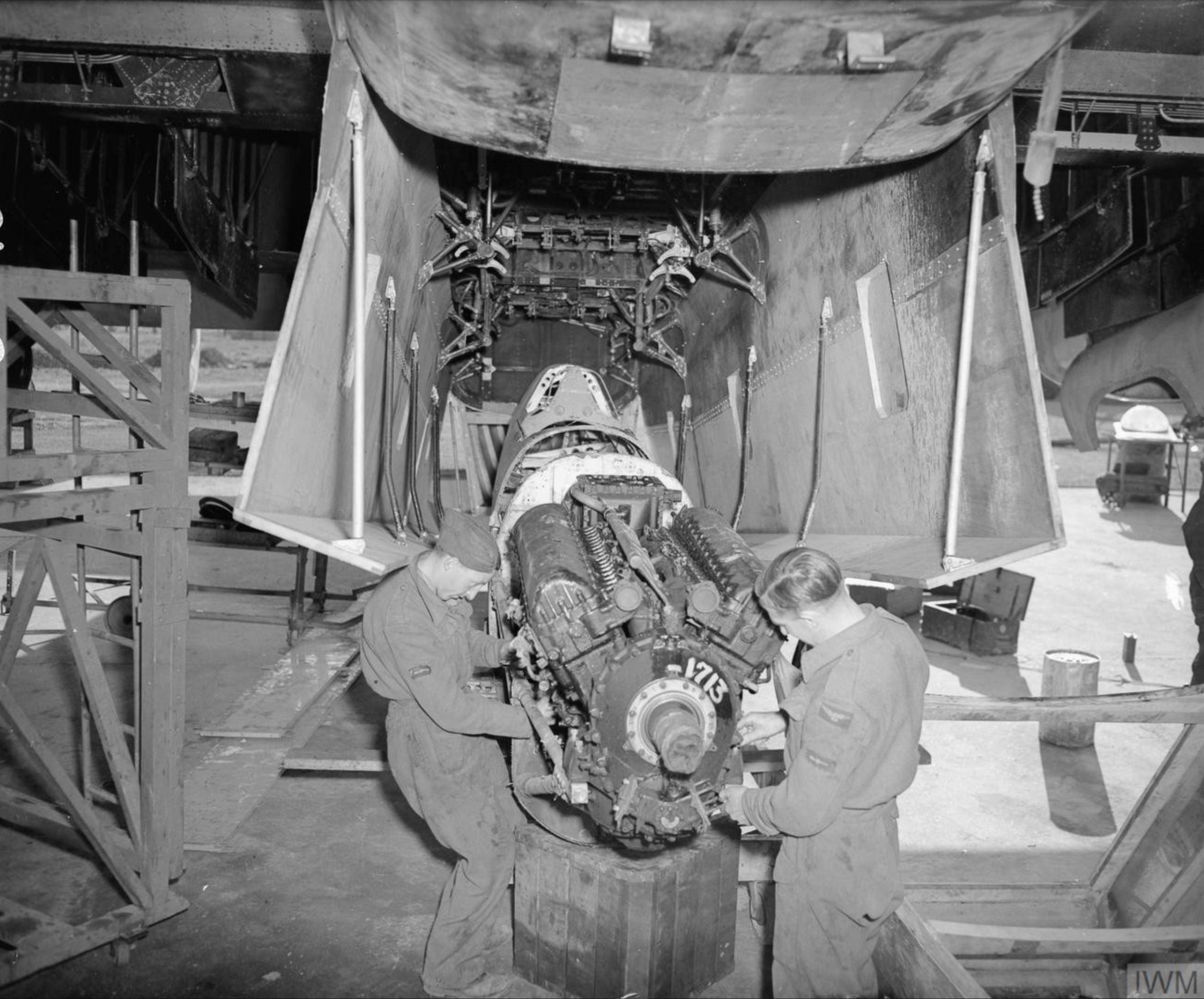MU Spitfire at RAF 156 Maintenance Unit Blida Algeria 1944 IWM CNA3303