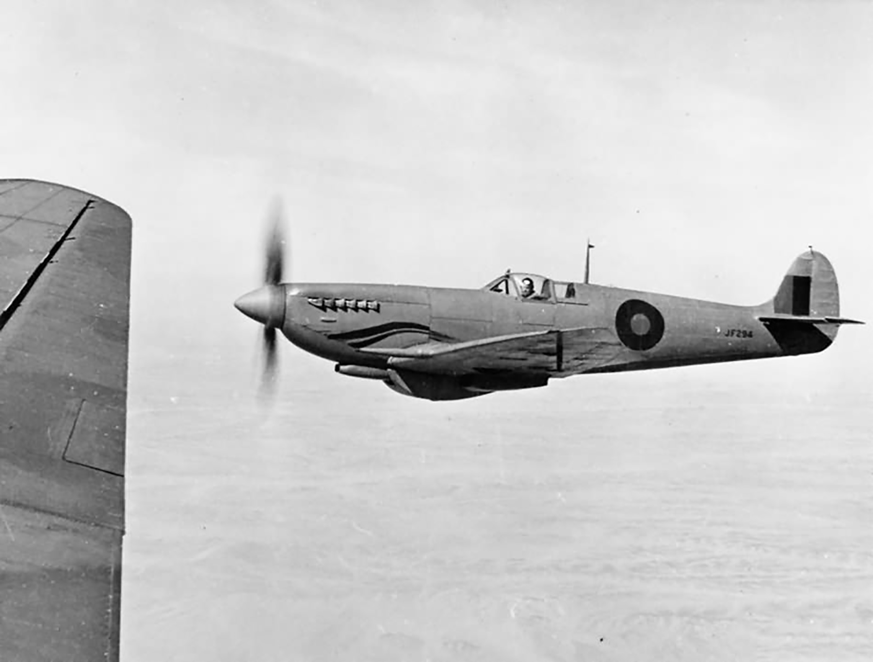 Recon Spitfire MkVIII RAF JF294 recon aircraft Mar 1944 web 01