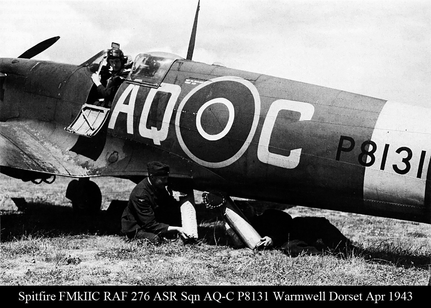 Spitfire FIIc RAF 276Sqn ASR AQC P8131 Warmwell Dorset Apr 1943 01
