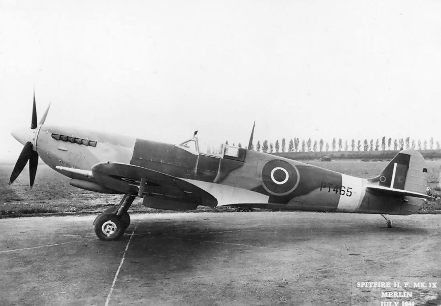 Spitfire HFIX RAF PT465 July 1944 web 01
