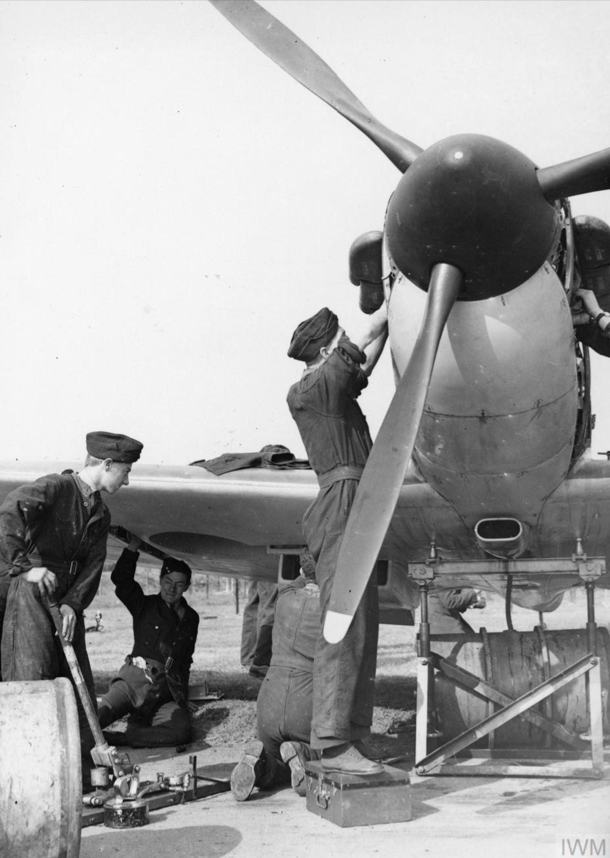 Spitfire MkI being rearmed at Biggin Hill Sep 1940 IWM HU104500