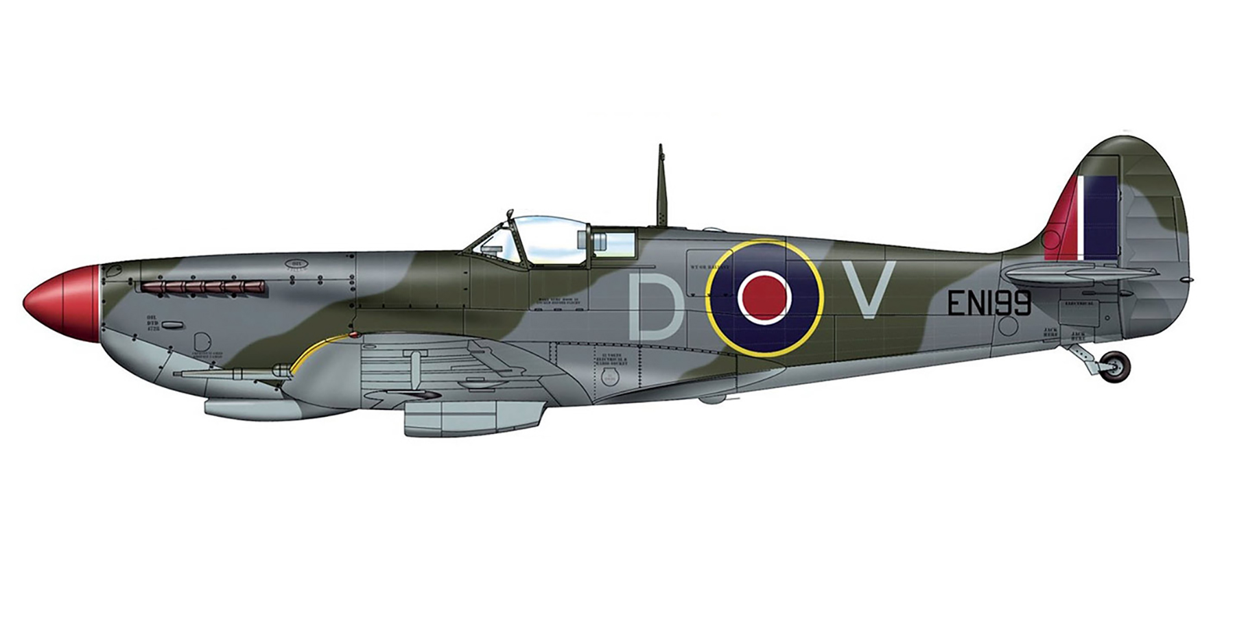 Spitfire MkIX RAF 1435Sqn DV EN199 Brindisi Italy 1943 0A