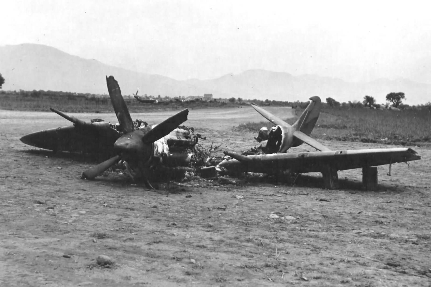 Spitfire MkIX RAF 93Sqn destroyed by fire after landing web 01