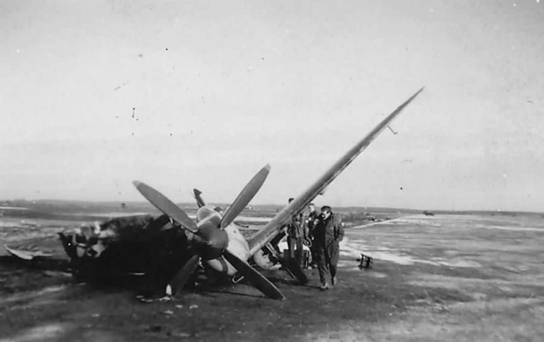 Spitfire MkIX destoryed at Eindhoven during Operation Bonaparte 1 Jan 1945 web 01