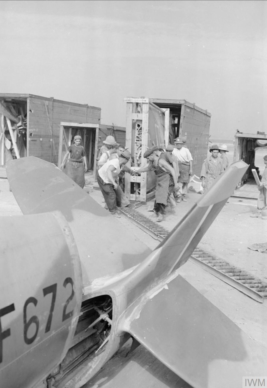 Spitfire MkVIII RAF 145 Maintenance Unit JF672 at Casablance Morocco IWM CNA2184