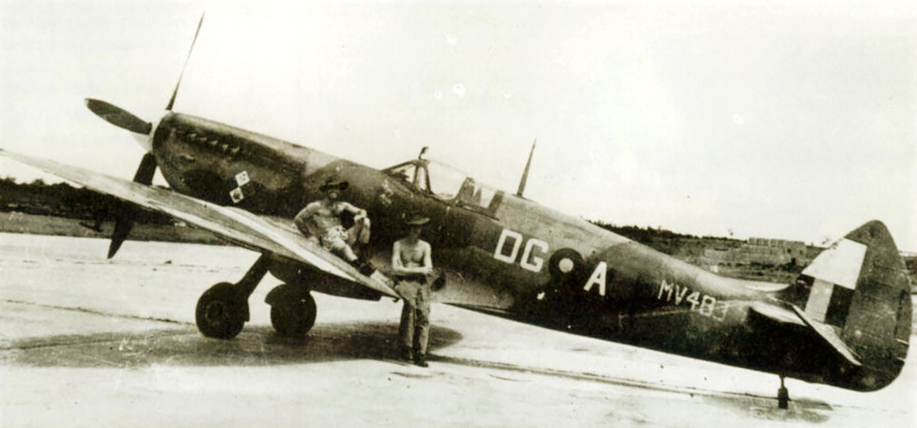 Spitfire MkVIII RAF 155Sqn DGA MV483 Burma 1945 01