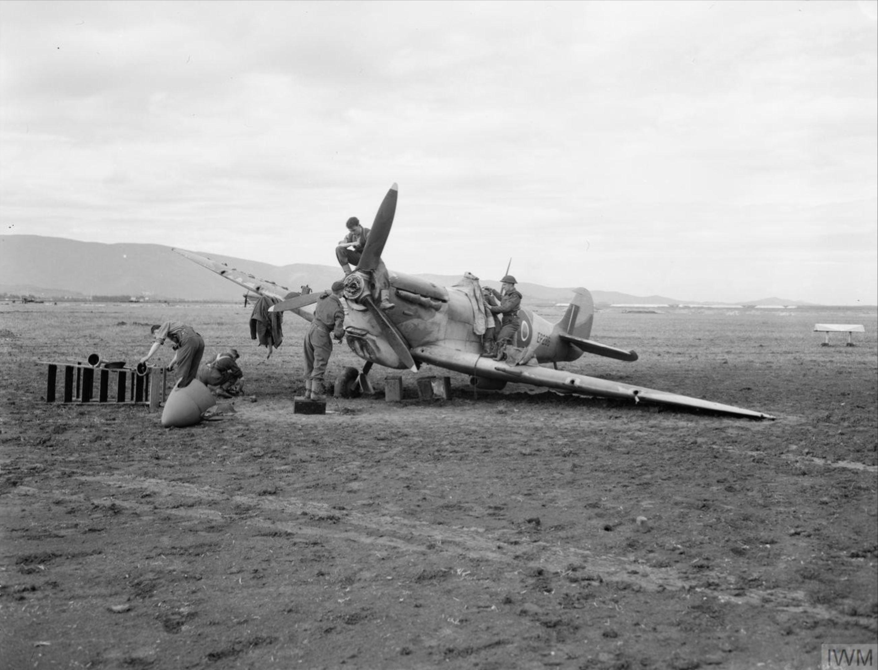 Spitfire MkVTrop RAF 208Sqn EP286 reinforcement aircraft at Bone Algeria IWM CNA3983
