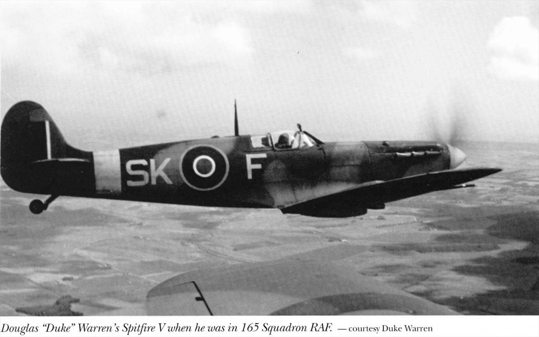 Spitfire MkVb RAF 165Sqn SKF Doug Duke Warren 1942 02