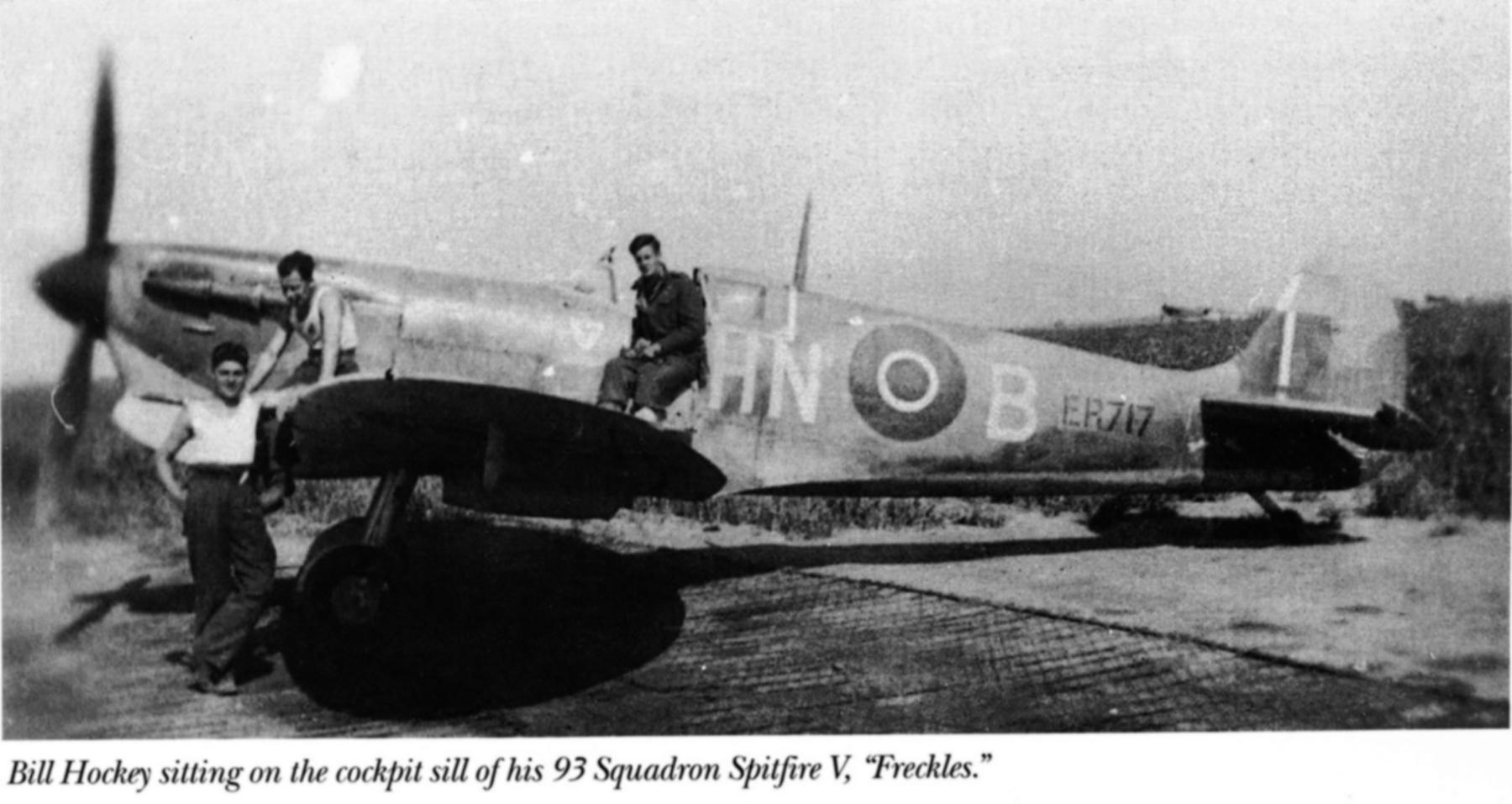 Spitfire MkVbTrop RAF 93Sqn HNB Bill Hockey ER717 North Africa 1943 01