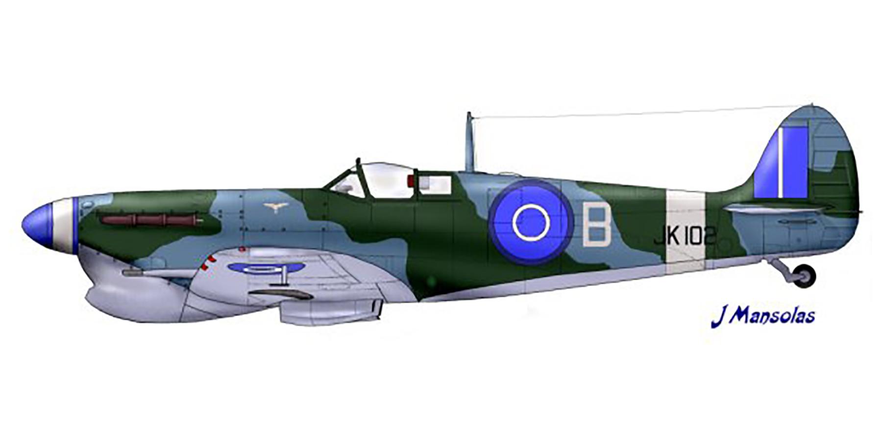 Spitfire MkVbTrop RHAF B JK102 Thessalonica Greece 1945 0A