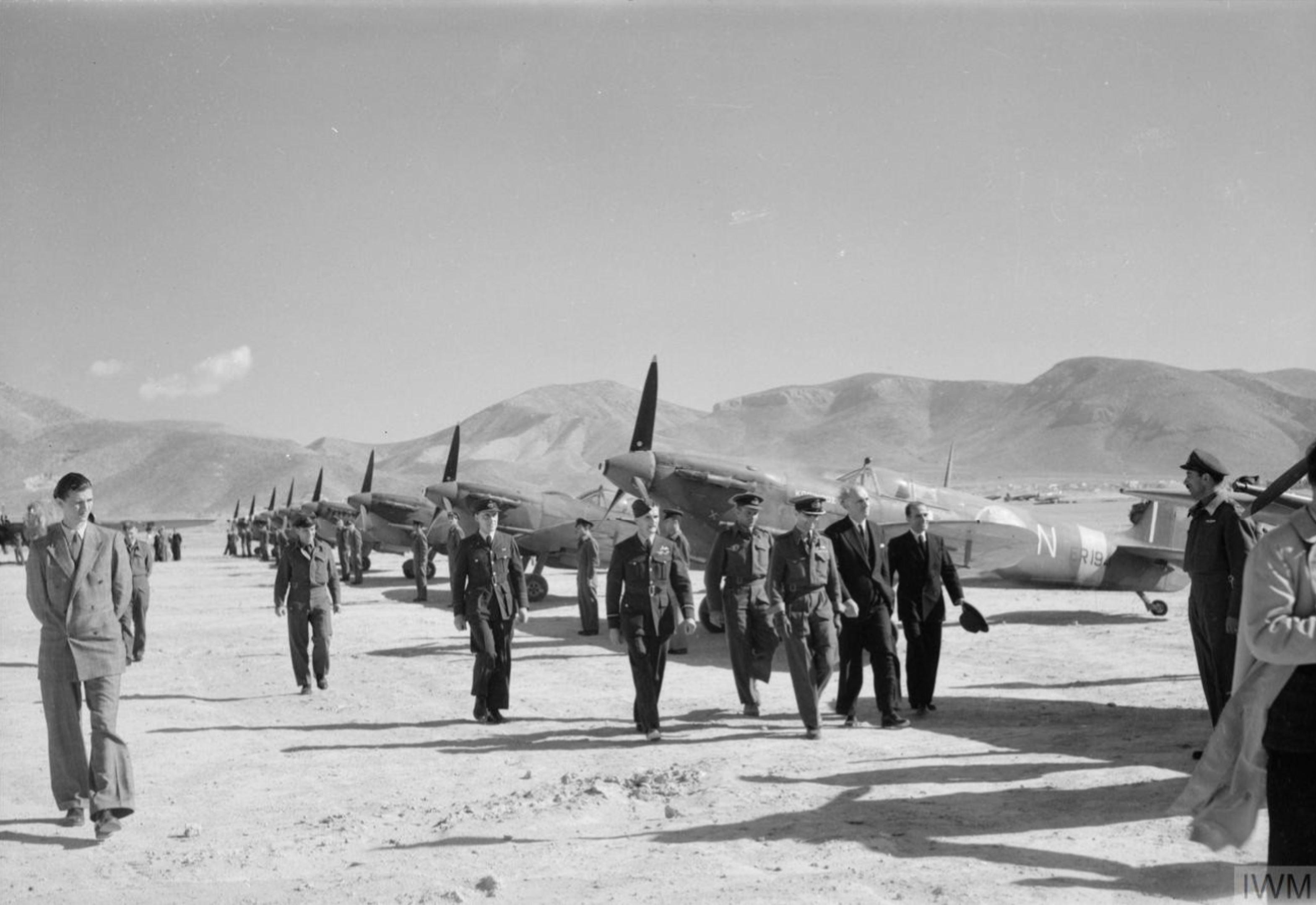 Spitfire MkVc RAF 336Sqn N ER194 at Kalamaki Greece IWM CNA4686